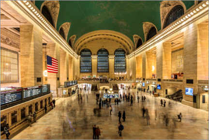 Akrylbillede  Grand Central Station in New York - Mike Centioli