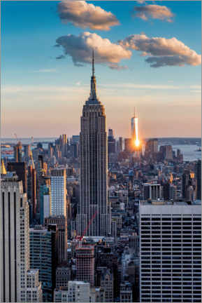 Lærredsbillede  Empire State Building in the sunset - Mike Centioli