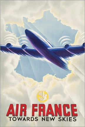 Akrylbillede  Air France - Towards New Skies - Travel Collection