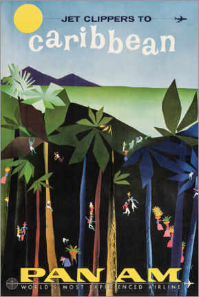 Akrylbillede  Caribbean via Pan Am - Travel Collection