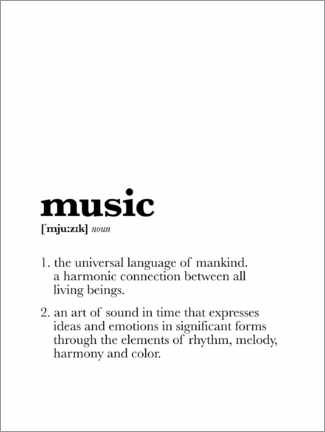 Akrylbillede  Music - Definition - Michael Tarassow