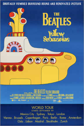 Print på træ  The Beatles - Yellow Submarine - Entertainment Collection