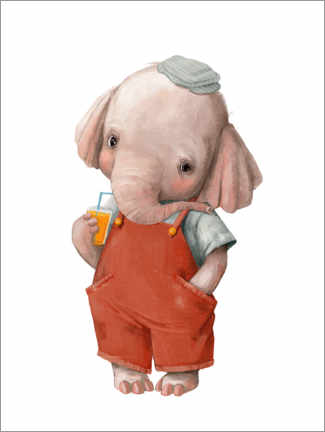 Lærredsbillede  Little elephant - Kidz Collection