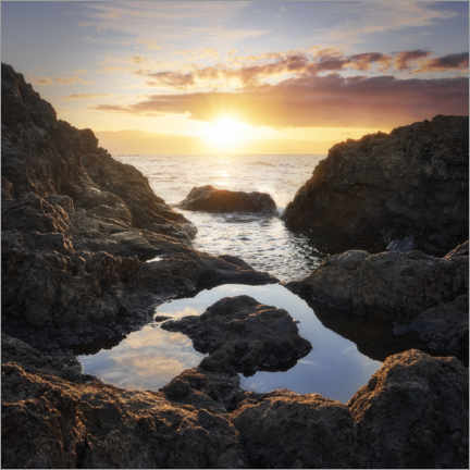 Premium-plakat Sunrise on the rocky coast