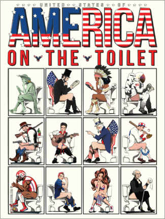 Premium-plakat  America on the toilet - Wyatt9