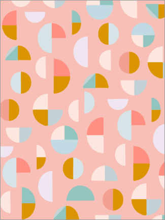 Premium-plakat  Candy Geometry - apricot and birch