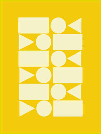 Premium-plakat  Geometry in sun yellow - apricot and birch