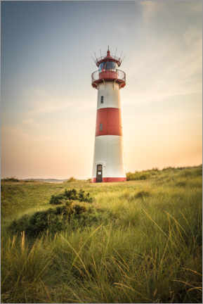 Premium-plakat  Sunset at the lighthouse on Sylt - Christian Müringer