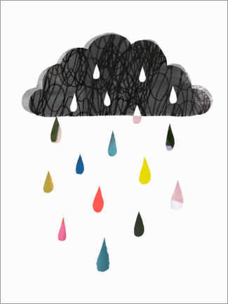 Premium-plakat Colorful rain cloud