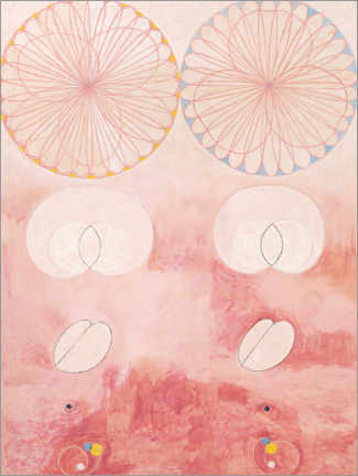 Akrylbillede  The ten largest, No. 9 - Hilma af Klint
