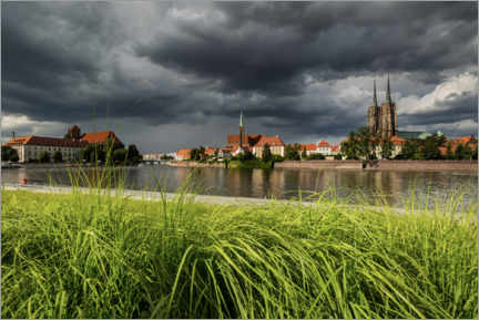Premium-plakat View of the cathedral island, Wroclaw