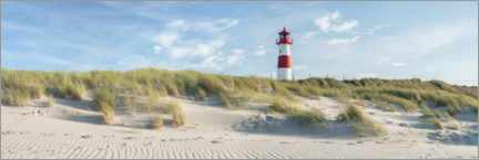 Lærredsbillede  Lighthouse on the dune beach on Sylt - Jan Christopher Becke