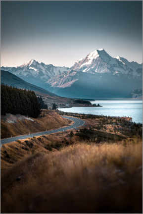 Lærredsbillede  Mount Cook, New Zealand - Thomas Beauquesne