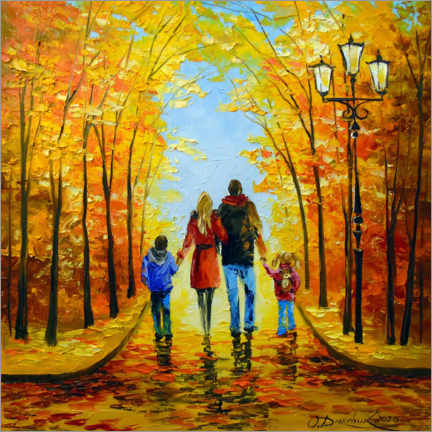 Akrylbillede  Walk with the whole family - Olha Darchuk