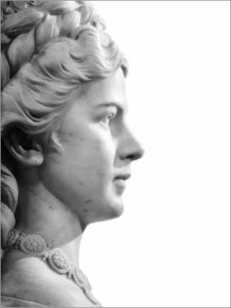 Akrylbillede  Marble bust - Art Couture