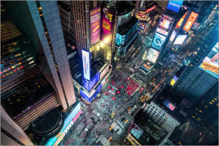 Akrylbillede  Aerial view of Times Square in New York - Mike Centioli