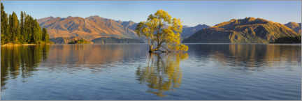 Premium-plakat Lake Wanaka at sunrise
