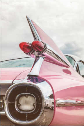 Akrylbillede  The pink American classic car - Martin Bergsma