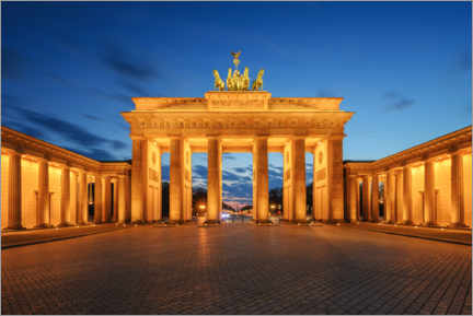 Premium-plakat  Brandenburg Gate at the blue hour - Robin Oelschlegel