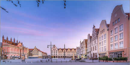 Akrylbillede  New market with town hall, Rostock - Dirk Petersen