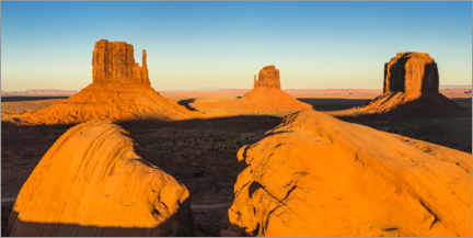 Premium-plakat Sunset in Monument Valley