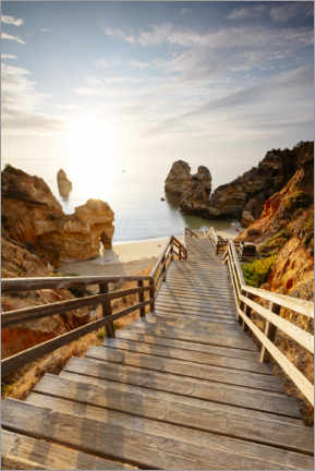Akrylbillede  To the beach, Algarve, Portugal - Matteo Colombo