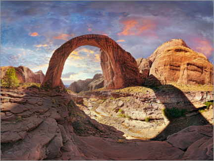 Premium-plakat Rainbow Bridge at sunset