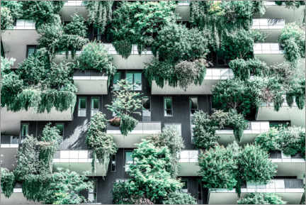 Print på træ  Bosco Verticale or Vertical Forest Towers In Milan - Radu Bercan