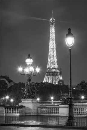 Premium-plakat Pont Alexandre III and Eiffel Tower in Paris
