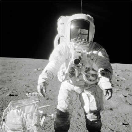 Galleritryk  Apollo 12 astronaut bean on the moon - NASA