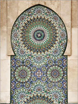 Akrylbillede  Decorative, Moroccan mosaic - Art Couture