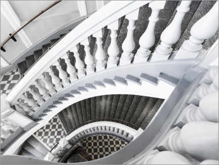 Akrylbillede  Museum stairs - Art Couture