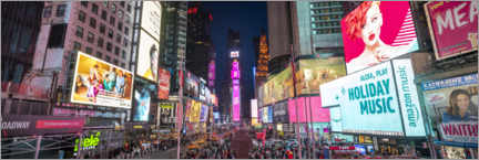 Akrylbillede  Times Square Panorama - Jan Christopher Becke
