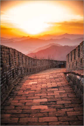 Premium-plakat The Great Wall at the sunset