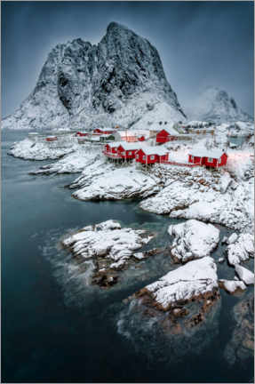 Print på træ  Picturesque Hamnoy - André Wandrei