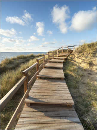 Lærredsbillede  Wooden walkway on Sylt near Kampen - Jan Christopher Becke