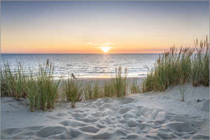 Akrylbillede  Sunset on the dune beach - Jan Christopher Becke