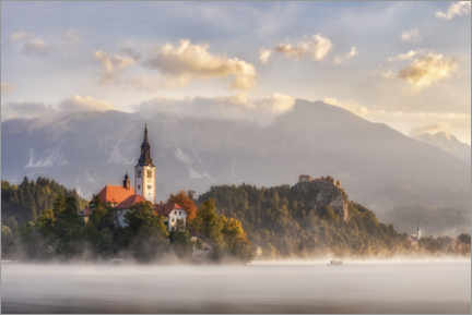 Premium-plakat  Morning light on Lake Bled - André Wandrei