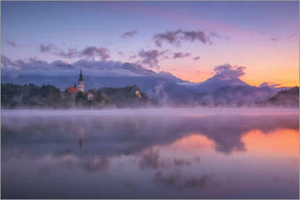 Premium-plakat  Dawn on Lake Bled - André Wandrei