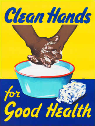 Akrylbillede  Clean hands for good health - Advertising Collection