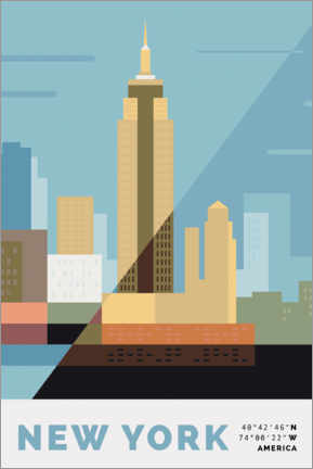 Premium-plakat New York II