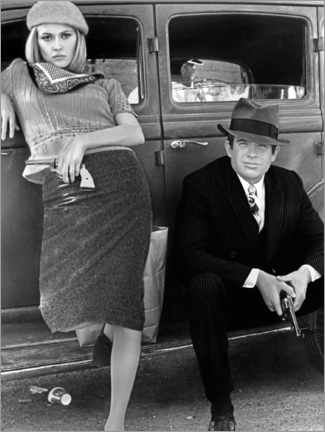 Premium-plakat Bonnie and Clyde, black and white