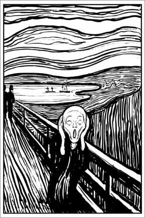 Mal selv plakat The Scream
