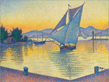 Print på træ  Harbor in the sunset - Paul Signac