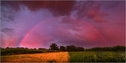 Premium-plakat  Rainbow at sunset with lightning - Benjamin Butschell