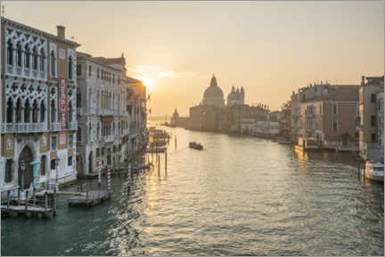 Premium-plakat Grand Canal at sunrise