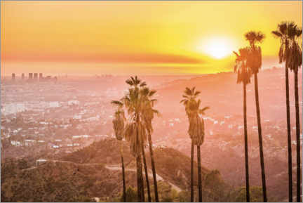 Premium-plakat  Sunset in Griffith Park, Los Angeles