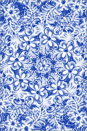 Galleritryk  Delft blue design