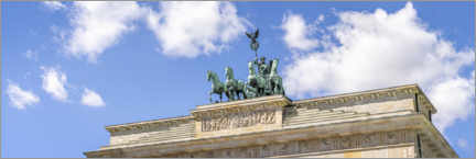 Premium-plakat  Quadriga statue at the Brandenburg Gate - Jan Christopher Becke