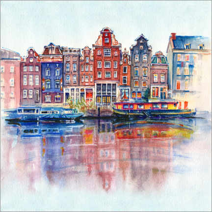Akrylbillede  The canals of Amsterdam